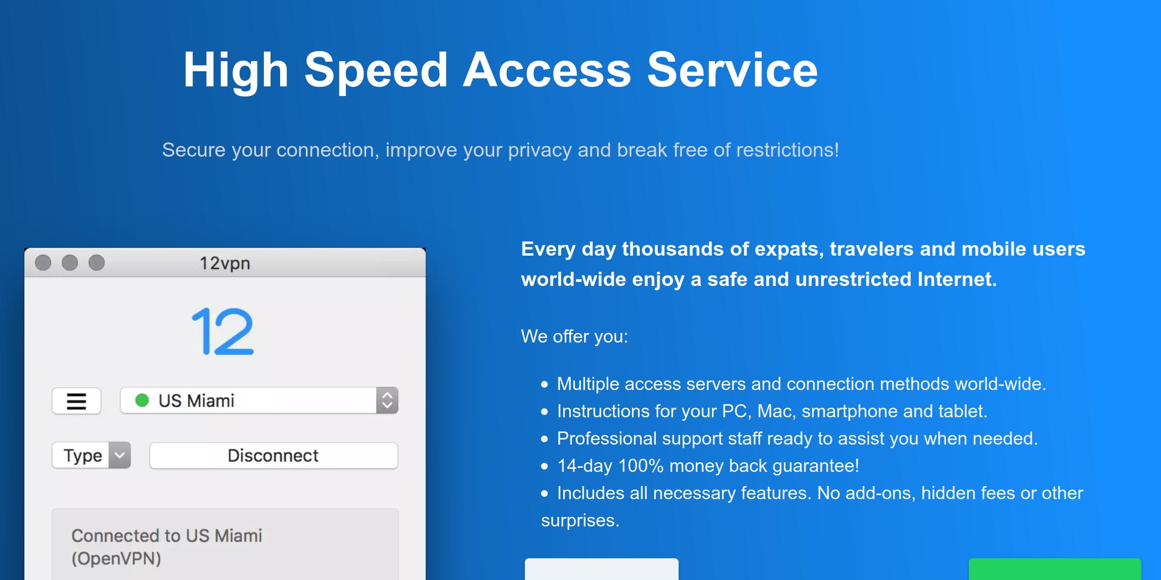 12vpx - High Speed Access Service